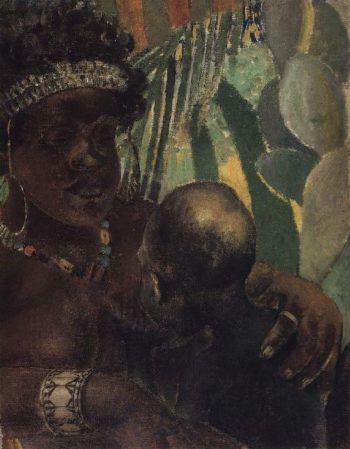 Negress 1907 | Petrov Vodkin Kuzma Sergeevich | oil painting