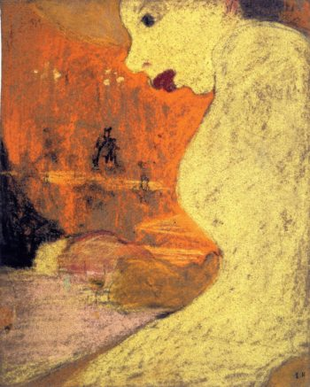 The Flirt   Edouard Vuillard   oil painting
