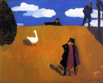 The Goose   Edouard Vuillard   oil painting