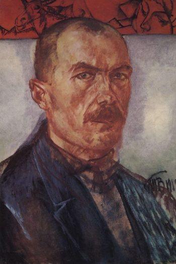 Self portrait 1912 | Petrov Vodkin Kuzma Sergeevich | oil painting