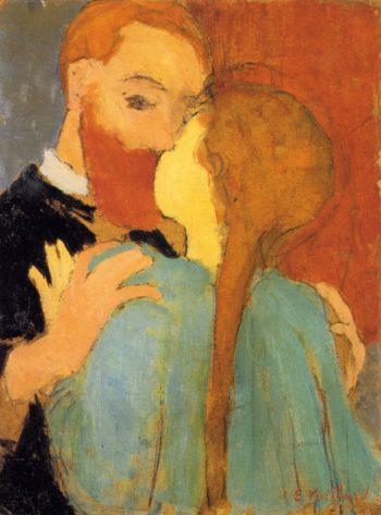 The Kiss | Edouard Vuillard | oil painting