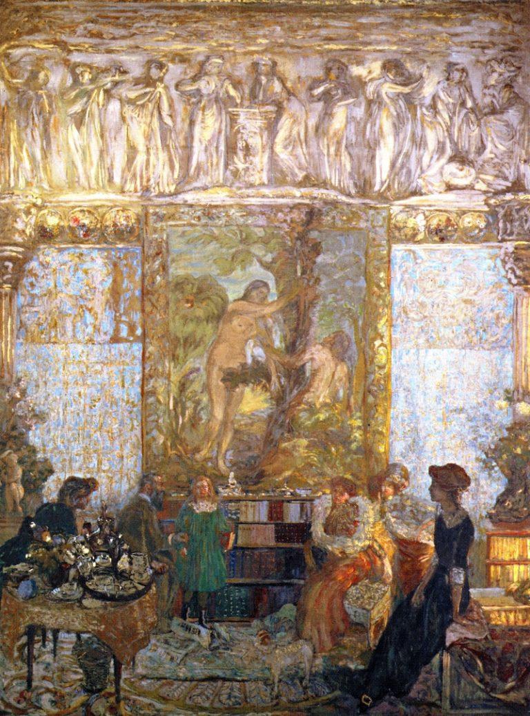 The Library | Edouard Vuillard | oil painting