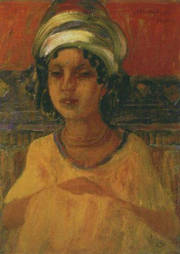 Kadusha Africa 1907 | Petrov Vodkin Kuzma Sergeevich | oil painting
