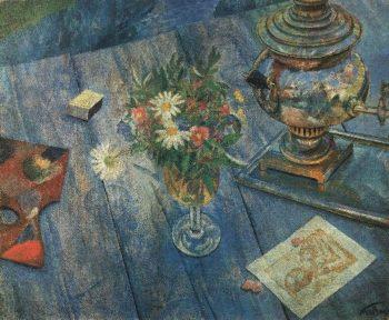 Still Life with Samovar 1920 | Petrov Vodkin Kuzma Sergeevich | oil painting
