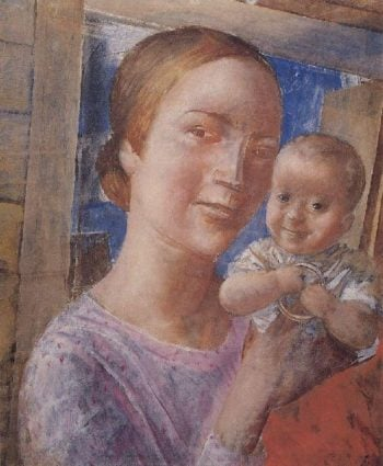 Mother and Child 1927 | Petrov Vodkin Kuzma Sergeevich | oil painting