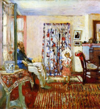 The Painter K X Roussel and His Daughter Annette | Edouard Vuillard | oil painting