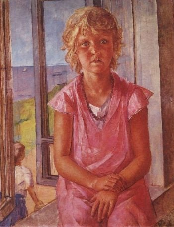 Daughter of a fisherman 1936 | Petrov Vodkin Kuzma Sergeevich | oil painting