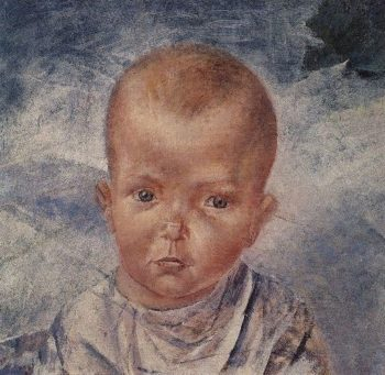 Daughter of the artist 1923 | Petrov Vodkin Kuzma Sergeevich | oil painting