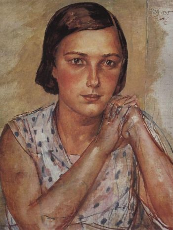 Portrait of the artists daughter 1935 | Petrov Vodkin Kuzma Sergeevich | oil painting
