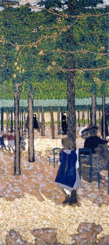 The Public Gardens Under the Trees | Edouard Vuillard | oil painting