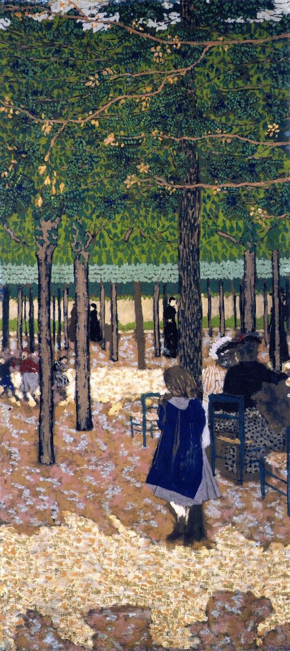 The Public Gardens Under the Trees | Edouard Vuillard | oil painting
