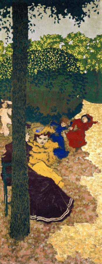 The Public Gardens Young Girls Playing | Edouard Vuillard | oil painting