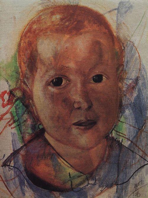 defect 1915   Petrov Vodkin Kuzma Sergeevich   oil painting