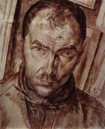 Self 1 1921 | Petrov Vodkin Kuzma Sergeevich | oil painting