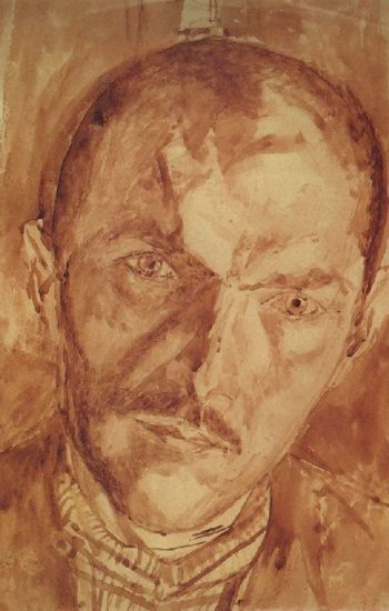 Self 2 1921 | Petrov Vodkin Kuzma Sergeevich | oil painting