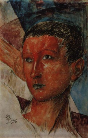 head boys 1916 | Petrov Vodkin Kuzma Sergeevich | oil painting