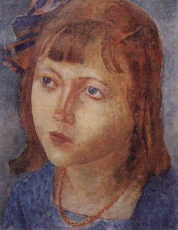 Head girl 1922 | Petrov Vodkin Kuzma Sergeevich | oil painting