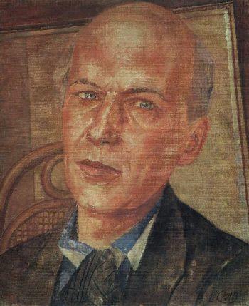 Portrait of Andrei Bely 1932 | Petrov Vodkin Kuzma Sergeevich | oil painting