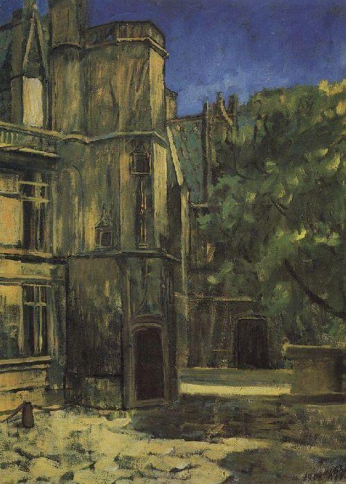 Type Cluny Museum in Paris 1908   Petrov Vodkin Kuzma Sergeevich   oil painting