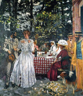 The Terrace at Vasouy Luncheon | Edouard Vuillard | oil painting
