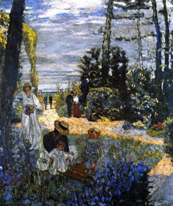 The Terrace at Vasouy The Garden | Edouard Vuillard | oil painting