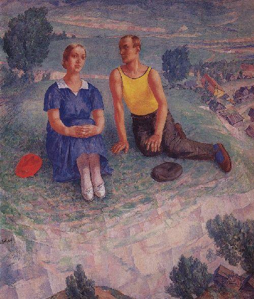 Spring 1935 | Petrov Vodkin Kuzma Sergeevich | oil painting