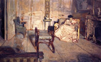 The White Salon | Edouard Vuillard | oil painting