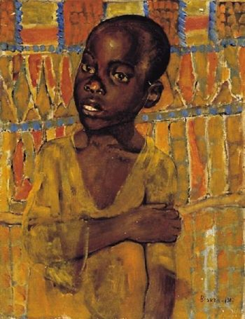 African boy 1907 | Petrov Vodkin Kuzma Sergeevich | oil painting