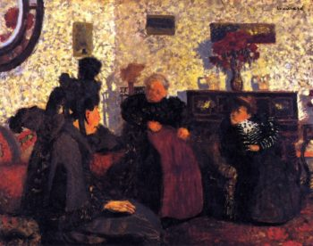 The Widow's Visit | Edouard Vuillard | oil painting