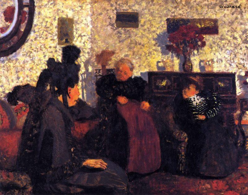 The Widow's Visit | Edouard Vuillard | oil painting