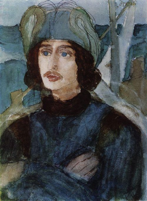 Epitaph 1904 | Petrov Vodkin Kuzma Sergeevich | oil painting