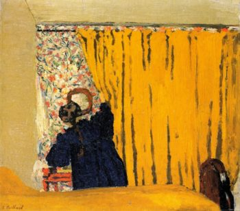 The Yellow Curtain | Edouard Vuillard | oil painting