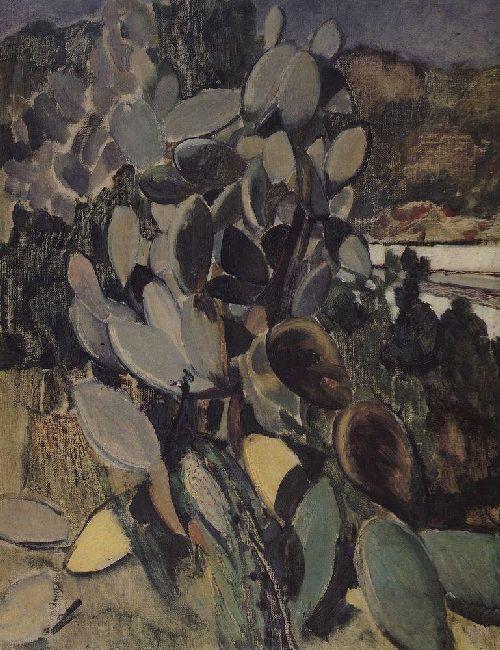 Cacti 1907 | Petrov Vodkin Kuzma Sergeevich | oil painting