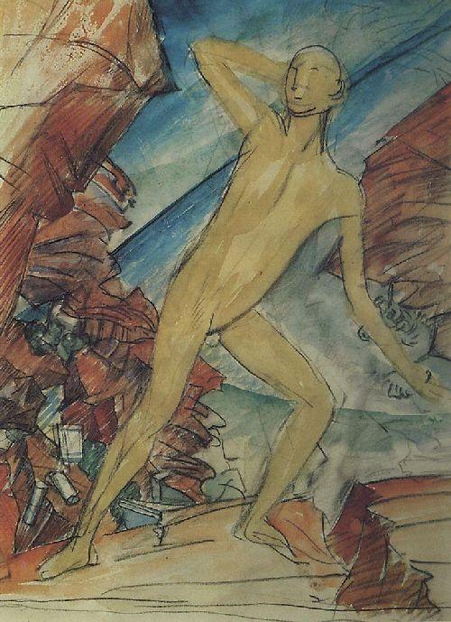 boy 1915 | Petrov Vodkin Kuzma Sergeevich | oil painting