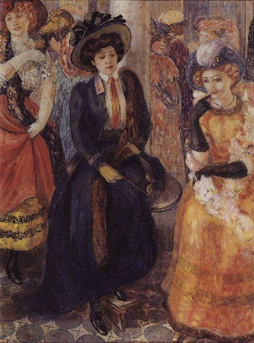 Cafe 1907   Petrov Vodkin Kuzma Sergeevich   oil painting