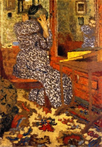 Woman Arranging Her Hair | Edouard Vuillard | oil painting