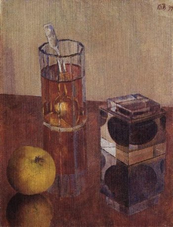 Still Life with inkwell 1934 | Petrov Vodkin Kuzma Sergeevich | oil painting
