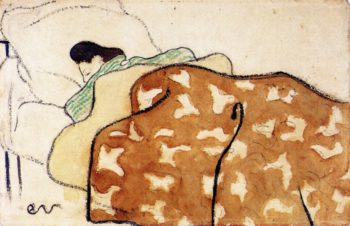 Woman in Bed | Edouard Vuillard | oil painting