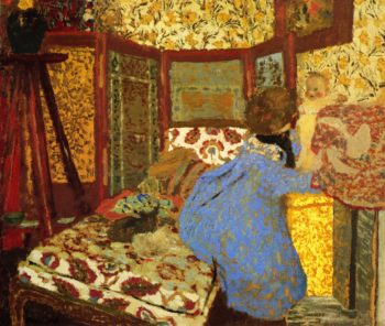 Woman in Blue with Child | Edouard Vuillard | oil painting