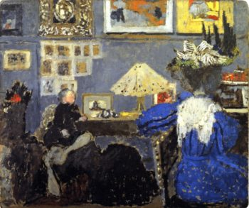 Woman in Blue | Edouard Vuillard | oil painting