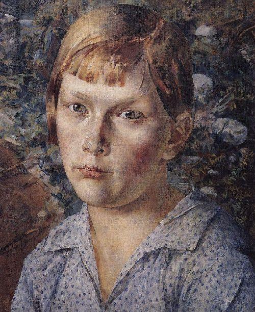 Girl in the woods 1938 | Petrov Vodkin Kuzma Sergeevich | oil painting