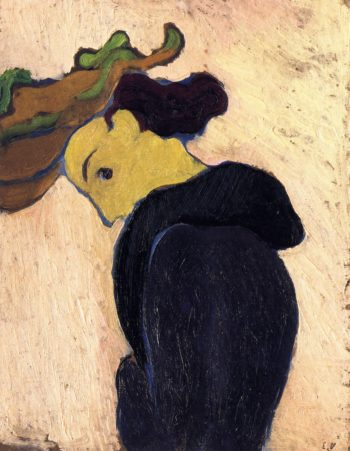 Woman in Profile Wearing a Green Hat | Edouard Vuillard | oil painting