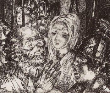 Peters denial 1919 | Petrov Vodkin Kuzma Sergeevich | oil painting