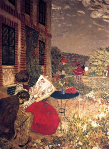 Woman Reading on a Bench | Edouard Vuillard | oil painting
