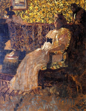 Woman Seated in a Chair | Edouard Vuillard | oil painting