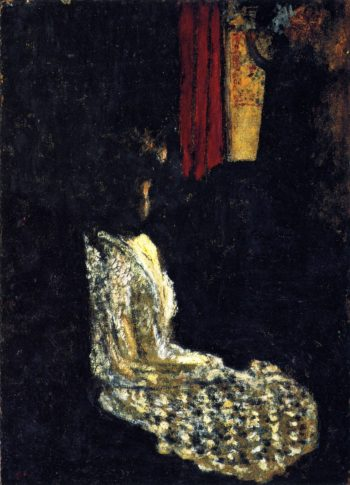 Woman Seated in a Dark Room | Edouard Vuillard | oil painting