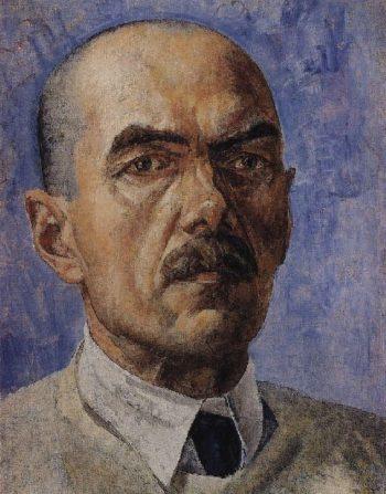 Self portrait 1929 | Petrov Vodkin Kuzma Sergeevich | oil painting