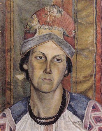 Portrait of a Woman Portrait of an Unknown 1908 | Petrov Vodkin Kuzma Sergeevich | oil painting