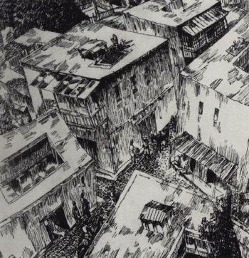 Roofs 1923 | Petrov Vodkin Kuzma Sergeevich | oil painting