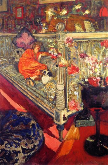 Yvonne Printemps on the Sofa | Edouard Vuillard | oil painting